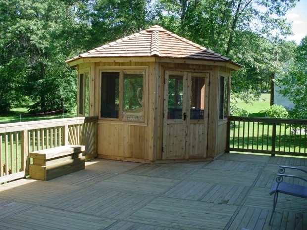 Alluring Gazebo Wood Kit Cedarshed 12 Ft Octagon Whistler All Season Gazebo 128was