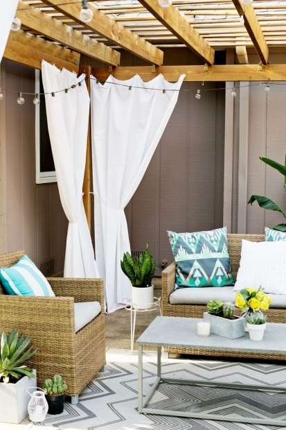 Alluring Outdoor Pergola Curtains Best 25 Pergola Curtains Ideas On Pinterest Deck With Pergola