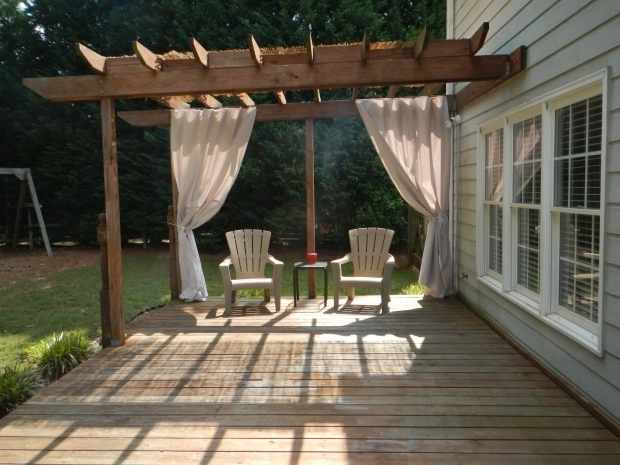 Amazing Lowes Pergola Kits Decor Lowes Deck Design With Pergola And Curtains For Outdoor