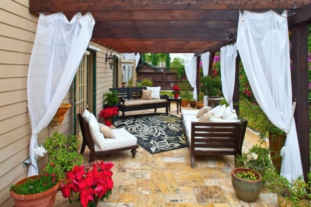 Awesome Outdoor Pergola Curtains Curtain Call The Guide To Pergola Curtains