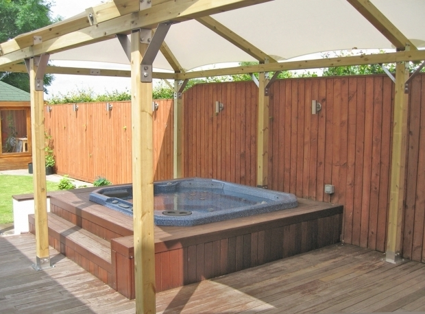 Delightful Gazebo For Hot Tub Kits 30 Fantastic Spa Enclosures Gazebos Hot Tubs Pixelmari