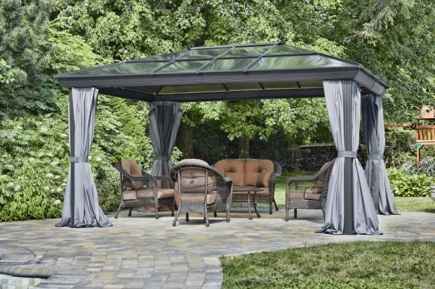 Fascinating Four Season Gazebo Penguin Four Season Gazebo In 12 Feet X 16 Feet Gray