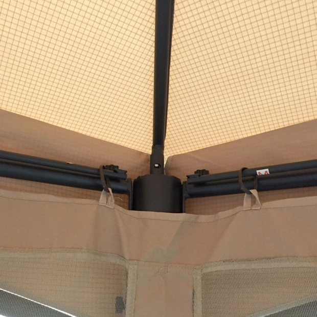 Gorgeous Wilson & Fisher Southbay Hexagon Gazebo Replacement Canopy And Net For Big Lots Southbay Hexagon Gazebo