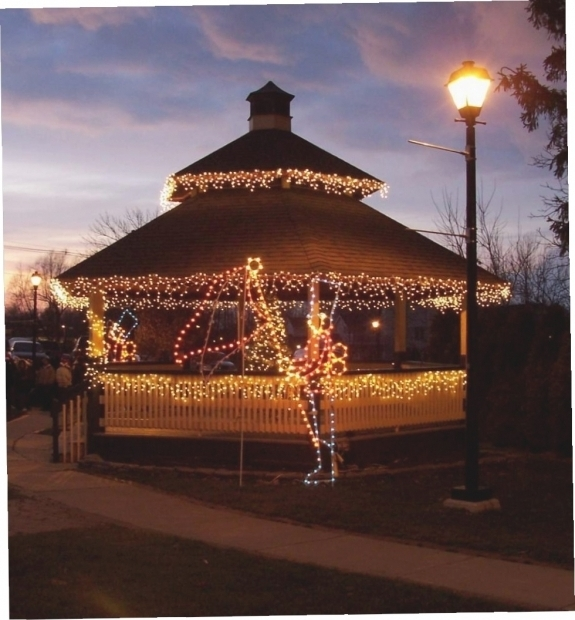Image of Gazebo With Solar Lights Hanging Solar Lights For Gazebo Gazebo Ideas Solar Lights