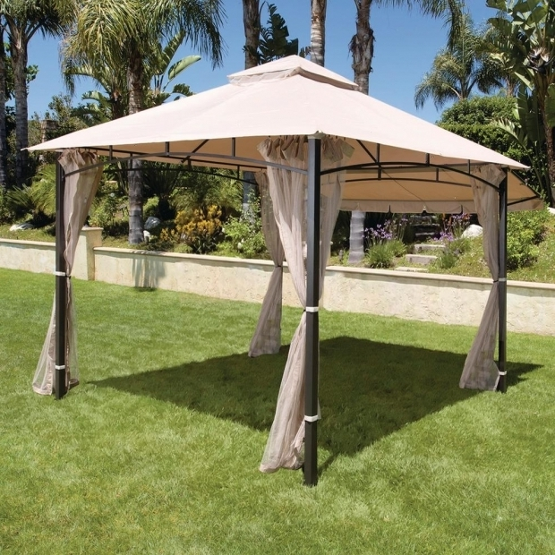 Image of Home Depot Gazebo Hampton Bay Santa Maria 13 Ft X 10 Ft Roof Style Canopy Gazebo