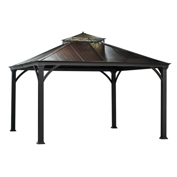 Image of Home Depot Gazebos 12x12 Hampton Bay Harper 10 Ft X 10 Ft Gazebo L Gz680pst M The Home