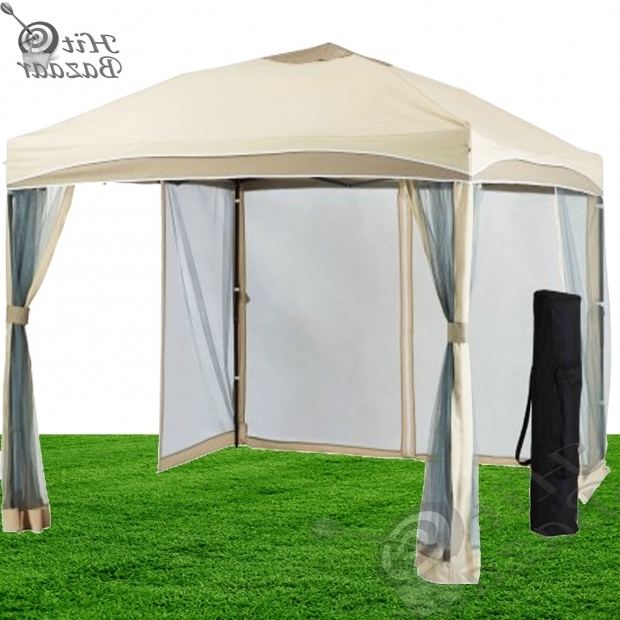 Image of Metal Pergola With Canopy Outdoor Gazebo Metal Pergola Canopy Tent Mosquito Net Patio