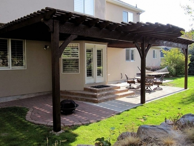 Image of Pergola Attached To House Roof Attached Pergola Designs With Roof Batimeexpo Furniture