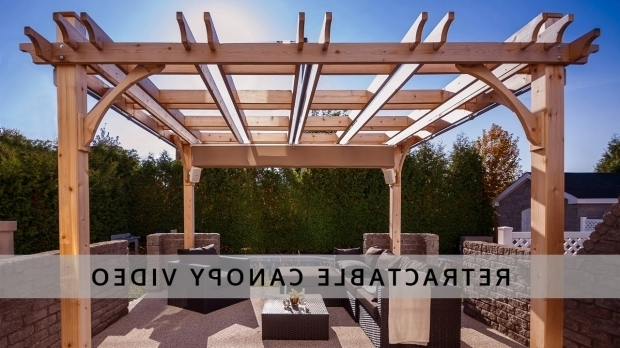 Incredible Diy Pergola With Retractable Canopy Pergola Retractable Canopy Outdoor Living Today Youtube