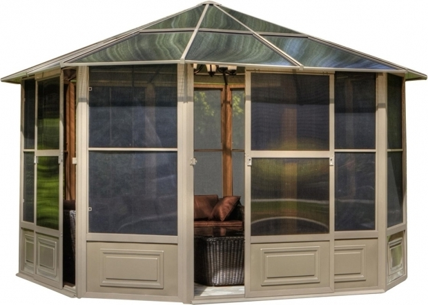 Incredible Four Season Gazebo Gazebo Penguin Four Season 12 Ft W X 12 Ft D Metal Permanent