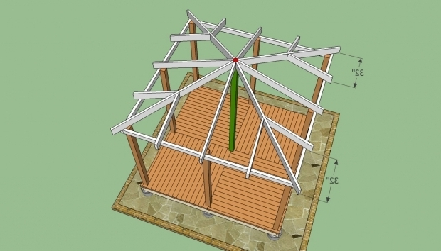 Incredible Gazebo Blueprints Wooden Gazebo Plans Howtospecialist How To Build Step Step