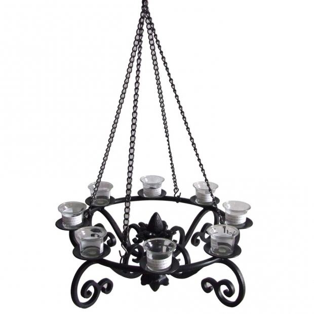 Incredible Outdoor Gazebo Chandelier Shop Allen Roth 19 In X 19 In Black Metal Votive Candle Outdoor