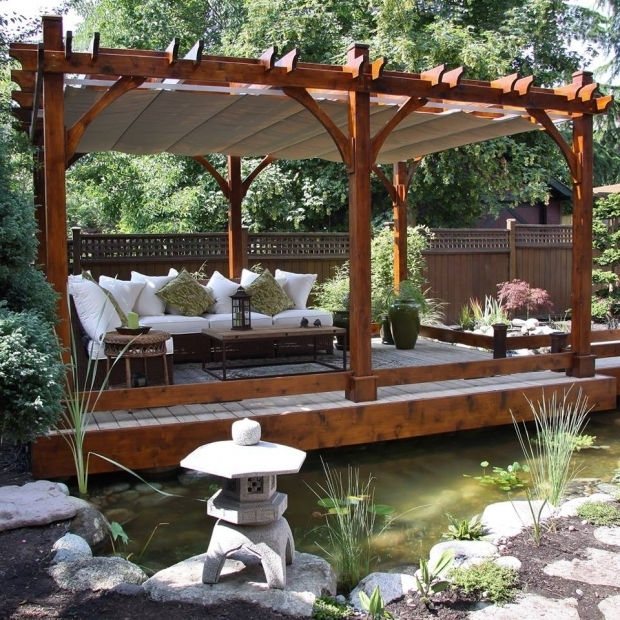 Inspiring Pergola With Retractable Canopy Kit Outdoor Living Today 12x16 Breeze Pergola Retractable Canopy