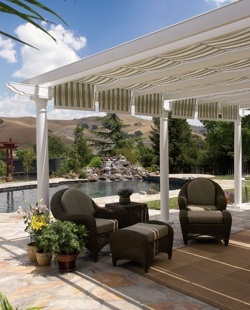 Inspiring Pergola With Retractable Shade Canopy Diy 115 Best Extrieur Images On Pinterest Diy Garage Organization