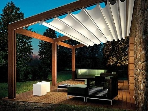 Inspiring Retractable Pergola Shade Retractable Shade Pergola Home Design Styles