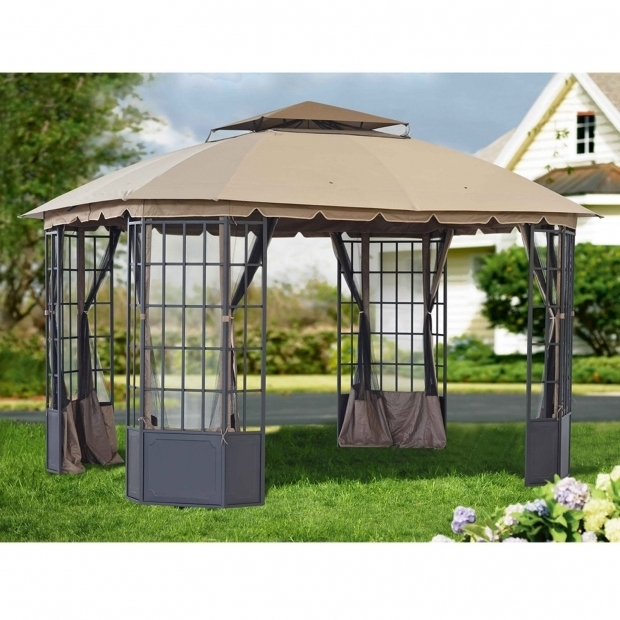 Marvelous Portable Screened Gazebo Furniture Astounding Screened Gazebos For Garden Sullivanbandbs