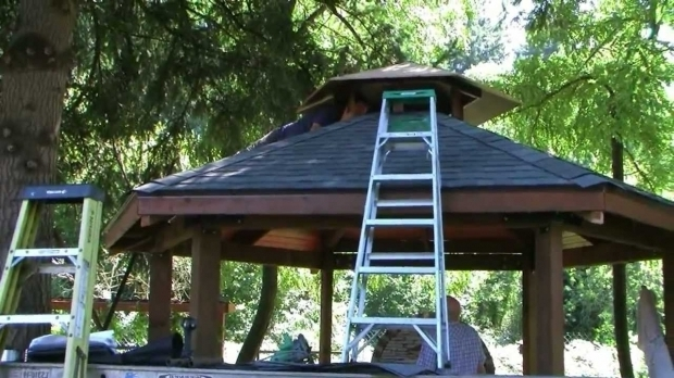 Outstanding Gazebo Plans With Fireplace Custom Built Gazebo And Grill Youtube