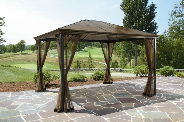Outstanding Gazebo Roof Replacement Ideas Patios Using Stunning Garden Winds Gazebo For Cozy Outdoor