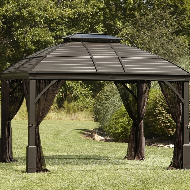 Outstanding Metal Gazebo Kits Sales Outdoor Hard Top Metal Gazebo Hardtop Bbq Australia Roof Ciov