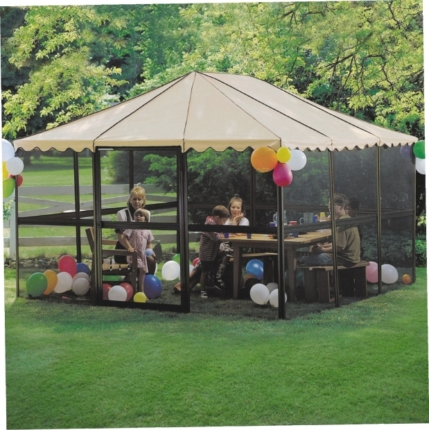 Outstanding Portable Screened Gazebo Extraordinary Portable Screened Gazebo Roundblue379h Outdoor