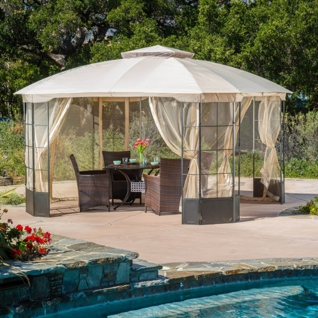 Outstanding Portable Screened Gazebo Shop Gazebos At Lowes