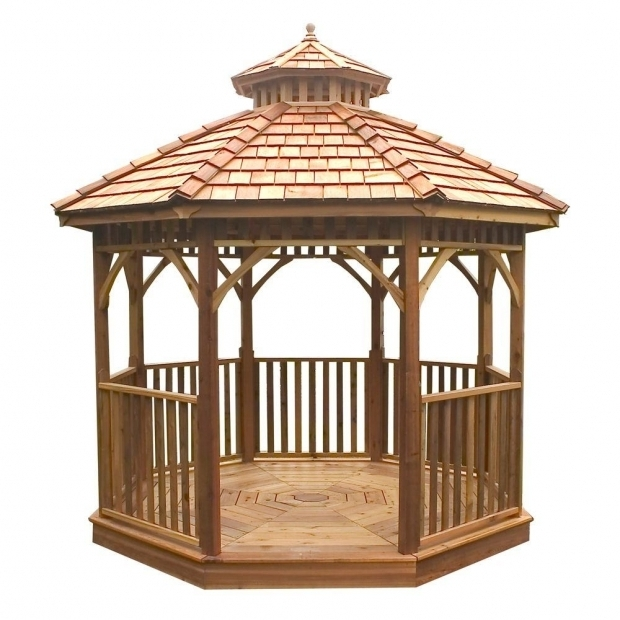 Picture of Gazebo Wood Kit Gazebos Sheds Garages Outdoor Storage The Home Depot