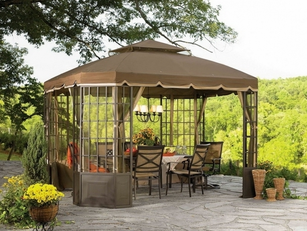 Picture of Outdoor Gazebo Chandelier Lighting Gazebo Lighting Ideas Creditrestore