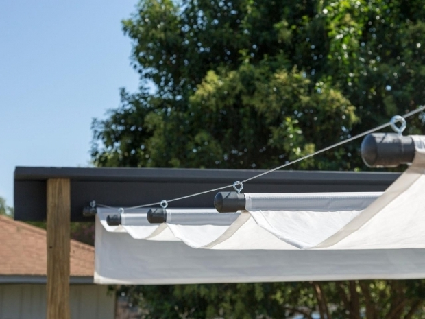 Remarkable Diy Pergola With Retractable Canopy How To Build An Outdoor Canopy Hgtv