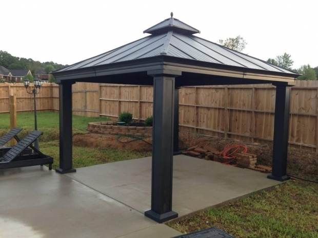 Remarkable Hardtop Gazebo Lowes Outdoor Metal Gazebo Lowes Kits Roof Ciov