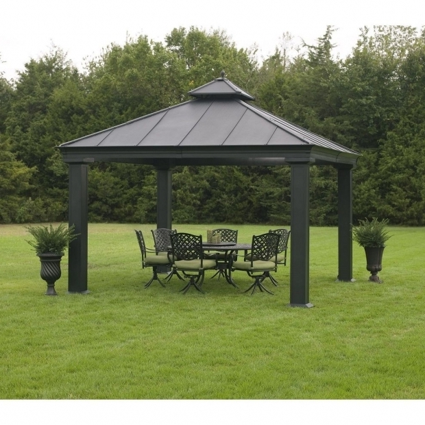Remarkable Member's Mark Royal Hardtop Gazebo Royal Hardtop Gazebo Pergolas On Sale Outdoor Metal 12 X 12