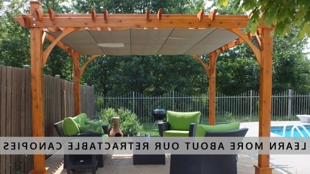 Remarkable Pergola With Retractable Shade Canopy Diy Outdoor Living Today Pergola With Retractable Canopy Youtube