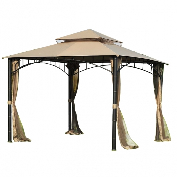 Stunning Lowes Gazebos And Canopies Shop Sunjoy Brown Square Gazebo Foundation 10 Ft X 10 Ft At