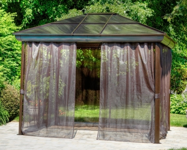 Stylish Four Season Gazebo Gazebo Penguin Four Season 10 Ft W X 12 Ft D Metal Permanent