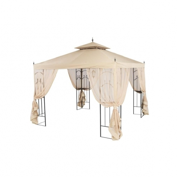 Stylish Hampton Bay Arrow Gazebo Hampton Bay 10 Ft X 10 Ft Arrow Gazebo Gghl00019 The Home Depot