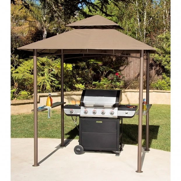 Stylish Mainstays Grill Gazebo Double Roof Grill Shelter Gazebo 8 X 5 Walmart