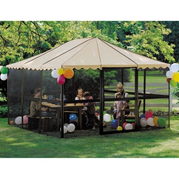 Stylish Portable Screened Gazebo Gazebos Pergolas Sports Outdoors At Mills Fleet Farm