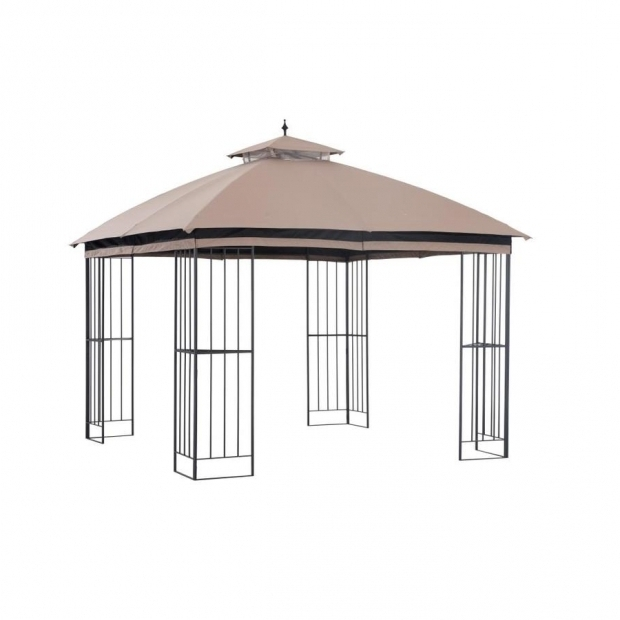 Wonderful Garden Treasures Gazebo Shop Garden Treasures Brown Metal Square Semi Gazebo Exterior