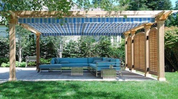 Wonderful Pergola With Retractable Shade Canopy Diy Diy Retractable Pergola Canopy Diy Projects Ideas