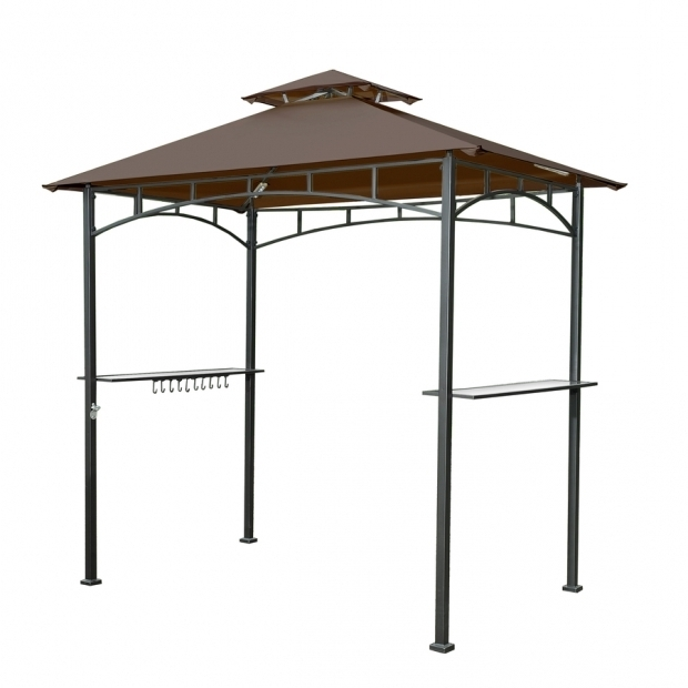 Alluring Hardtop Grill Gazebo Lowes Shop Sunjoy Brown Steel Rectangle Grill Gazebo Exterior 499 Ft