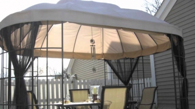 Alluring Home Depot Gazebo Cover Replacement Canopy For The Home Depot Oval Dome Gazebo Youtube