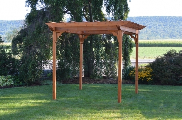 Amazing Cedar Pergola Kits Red Cedar Pergola From Dutchcrafters Amish Furniture
