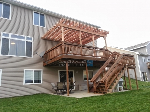 Amazing How To Build A Pergola Over An Existing Deck Deck Addition And New Pergola Des Moines Deck Builder Deck And