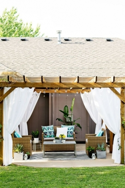 Amazing Outdoor Curtains For Pergola Best 25 Pergola Curtains Ideas On Pinterest Deck With Pergola