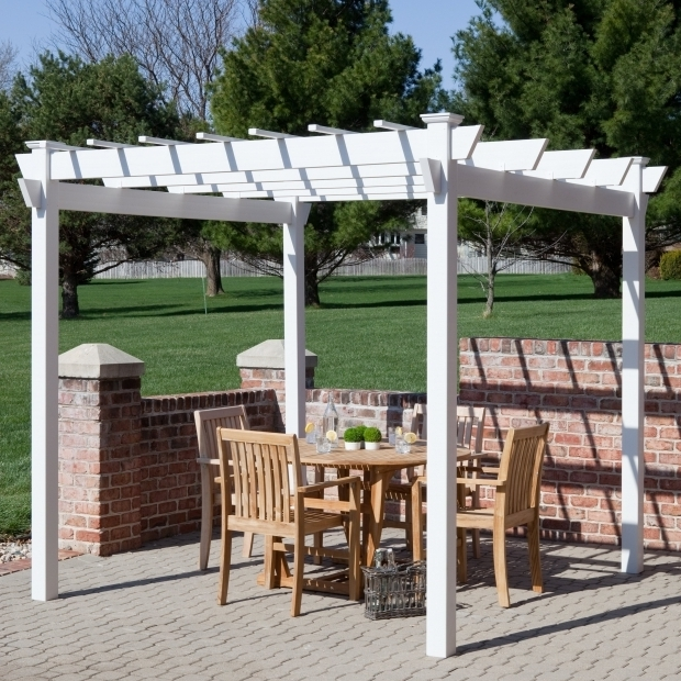 Awesome White Vinyl Pergola New England Mirage 8 X 8 Ft Vinyl Pergola Hayneedle