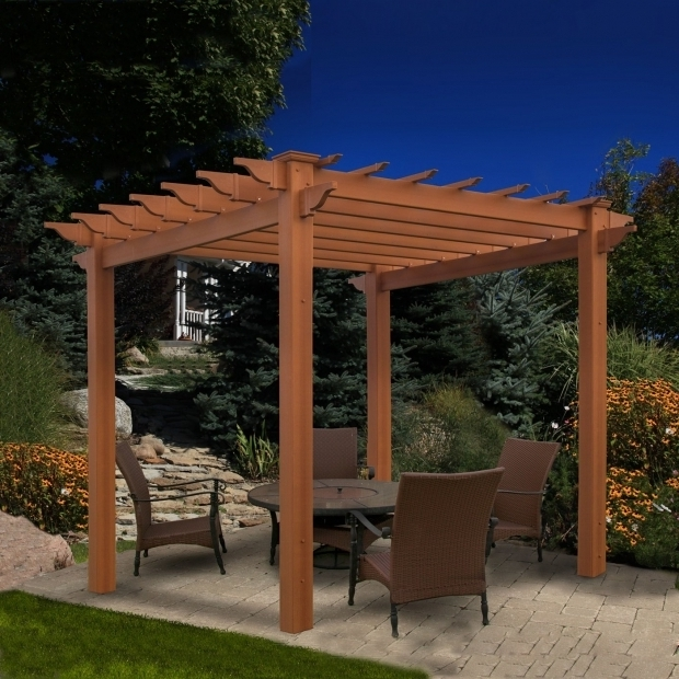 Awesome Wood Pergola Kits Lowes New England Arbors Va84044 Eden Lakewood Pergola Lowes Canada
