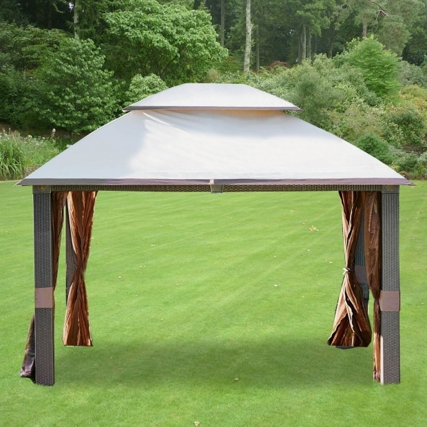 Beautiful Grill Gazebo Sam's Club Garden Winds Replacement Canopy For Gazebos Sold At Walmart Or