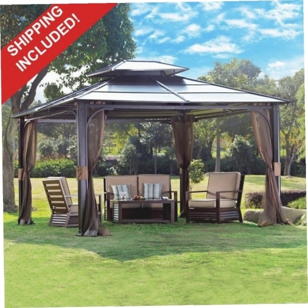 Delightful 10x10 Hardtop Gazebo With Mosquito Netting Pop Up Gazebo With Mosquito Netting Gazebo Ideas