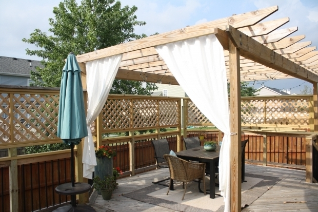 Delightful Pergola With Curtains Diy Pergola Curtains Diy Mama