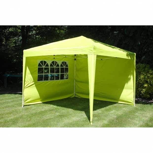 Delightful Pop Up Gazebo With Sides Gazebo 3 X 3m Pop Up Lime Green With Sides