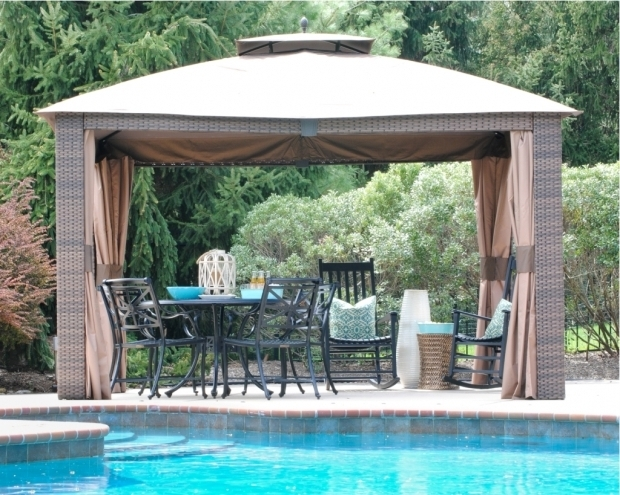 Delightful Portable Gazebo For Deck Wicker Portable Gazebo For Deck Doherty House Install A